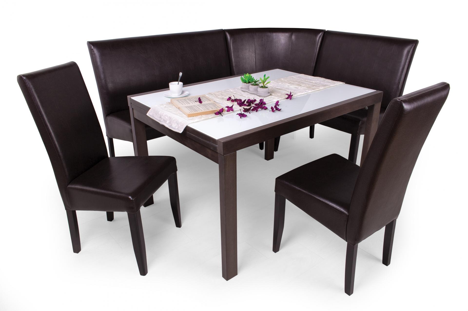 Berta sarok étkező garnitúra (sarok + Berta asztal 120-as + 2db ...